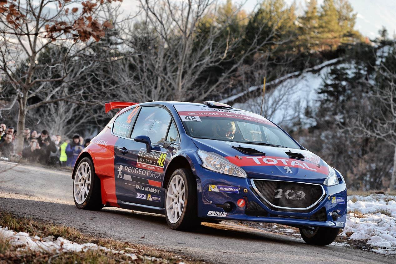 'Cohete' Suárez, piloto oficial de Peugeot en el WRC2