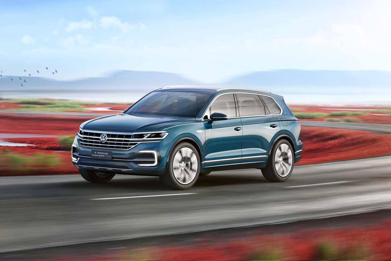 Volkswagen T-Prime Concept GTE: el futuro SUV Touareg XL
