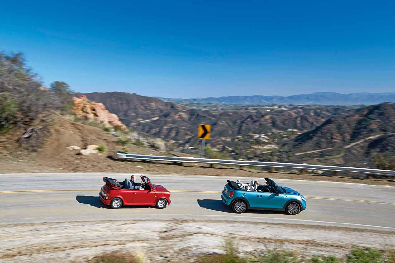 Mini Cooper S Cabrio 2016 y Mini Cabrio 1993