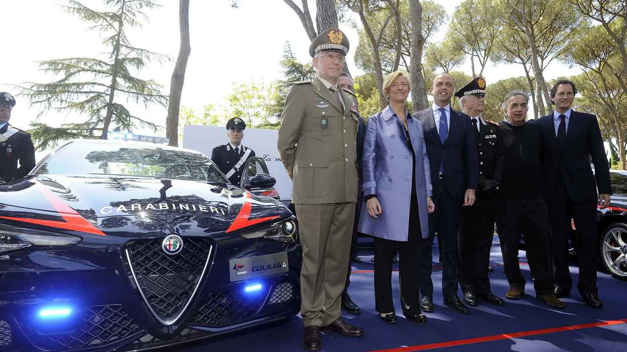 El nuevo coche de los Carabinieri: Alfa Romeo Giulia Quadrifoglio