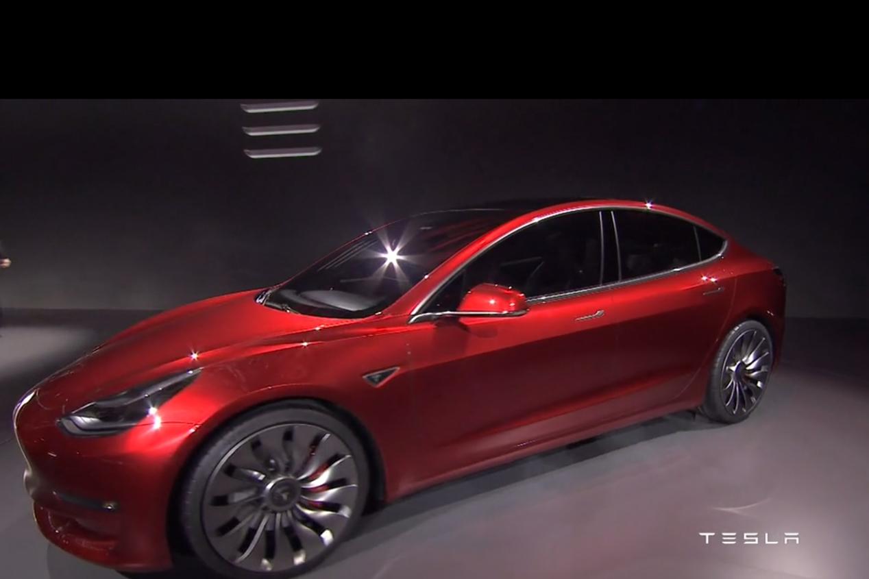 Los fans del Tesla Model 3 crean un configurador de compra
