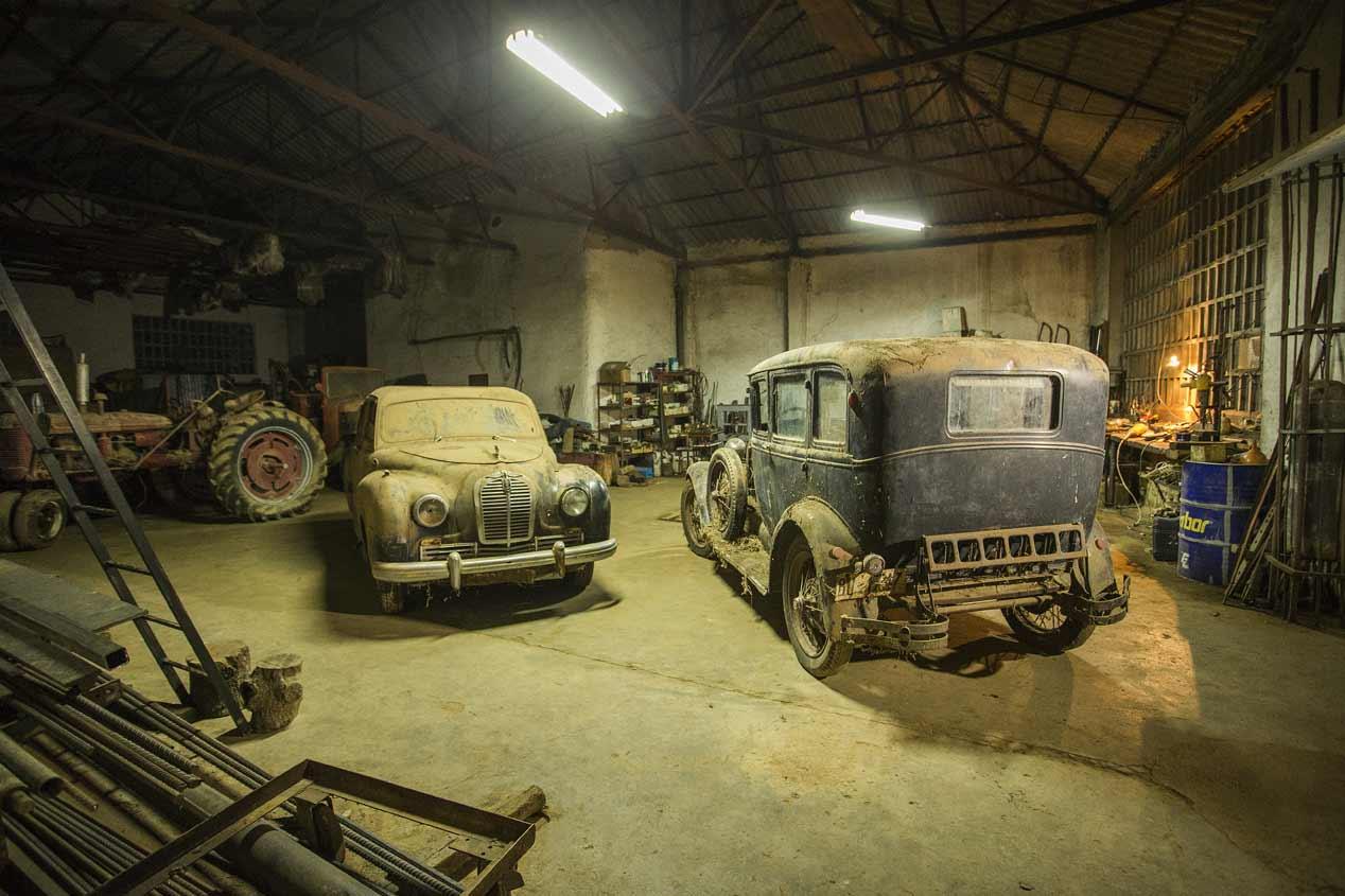El garaje de los vehículos clásicos olvidados