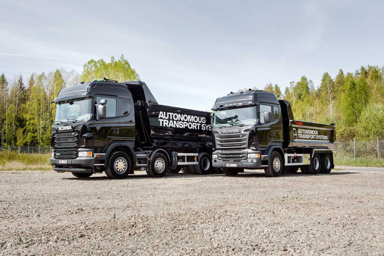 Los vehículos autónomos de Scania, en imágenes