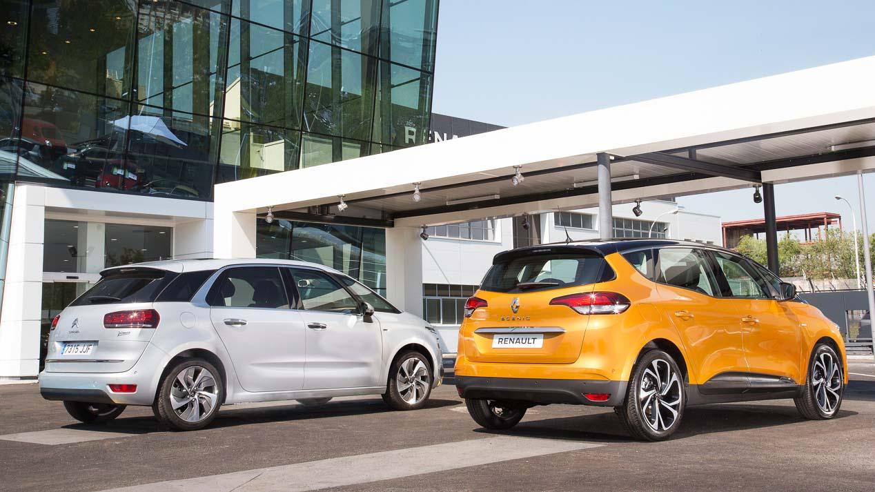 Duelo: Renault Scénic frente a Citroën C4 Picasso