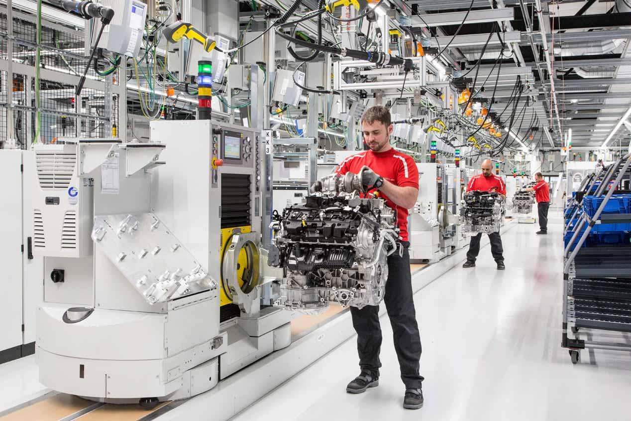 Nueva fábrica en Porsche para sus motores V8... y de todo Volkswagen