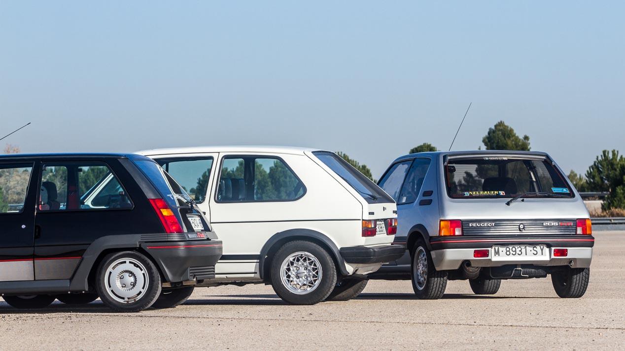 VW Golf GTI Mk1, Renault 5 Superturbo y Peugeot 205 GTI