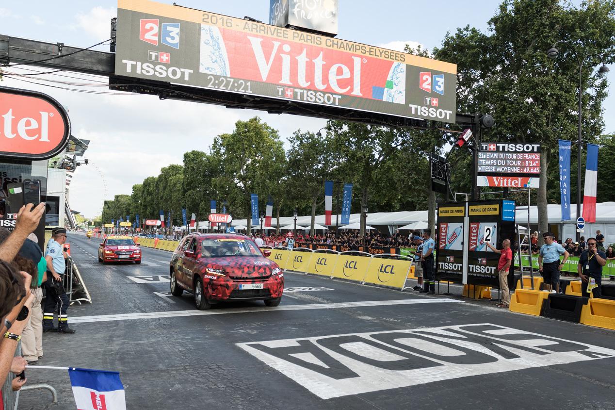 Skoda Kodiaq en el Tour de Francia 2016