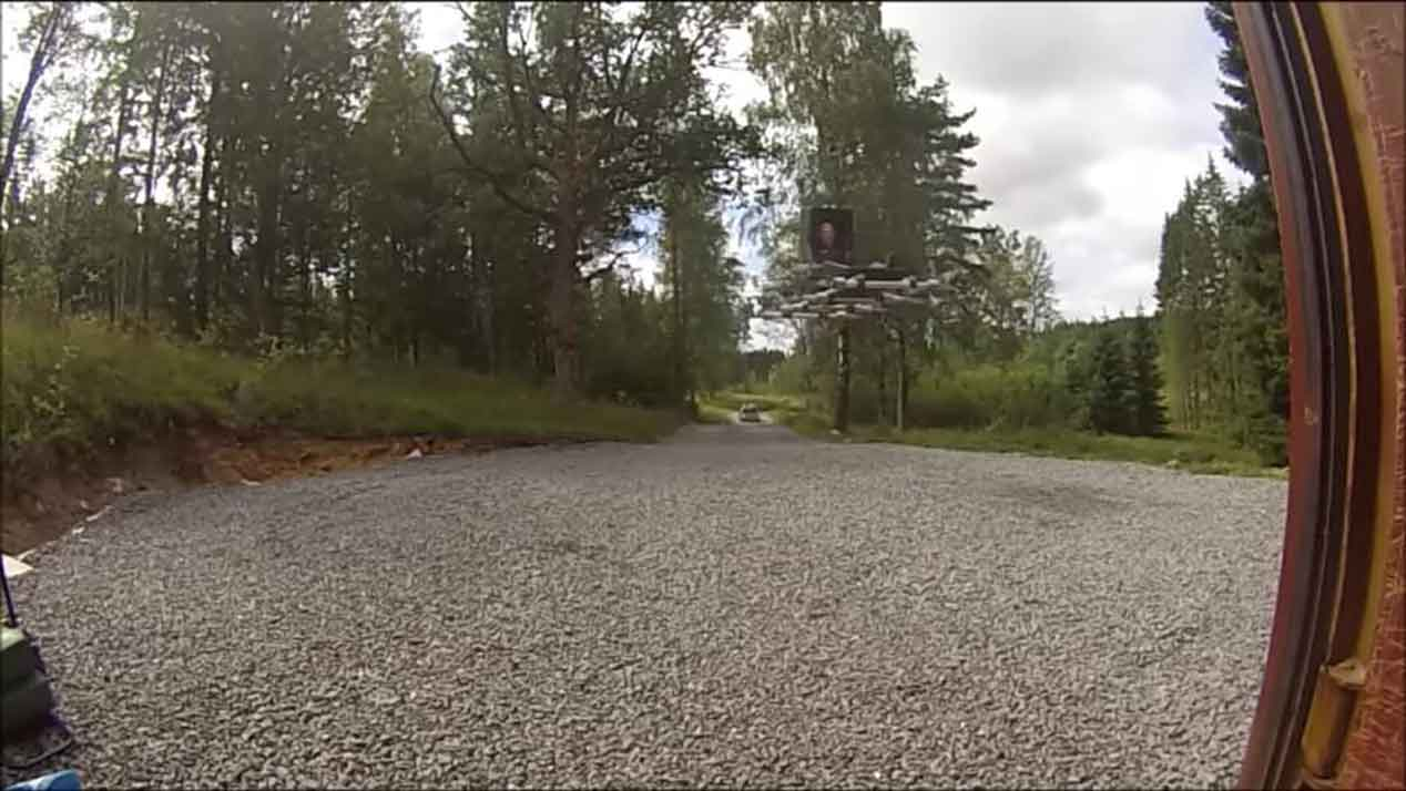 La alfombra voladora con ocho motores de combustión
