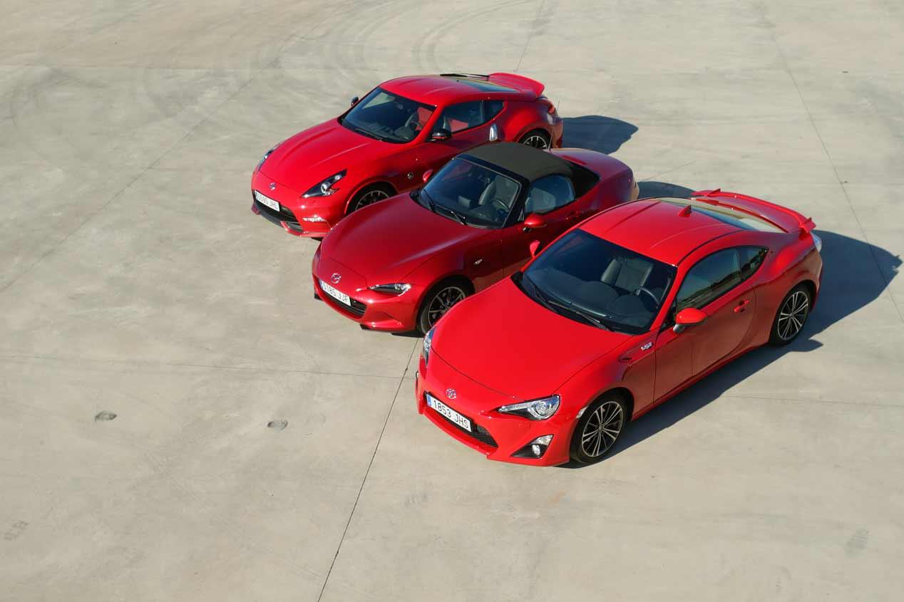 Mazda MX-5, Nissan 370Z Nismo y Toyota GT86