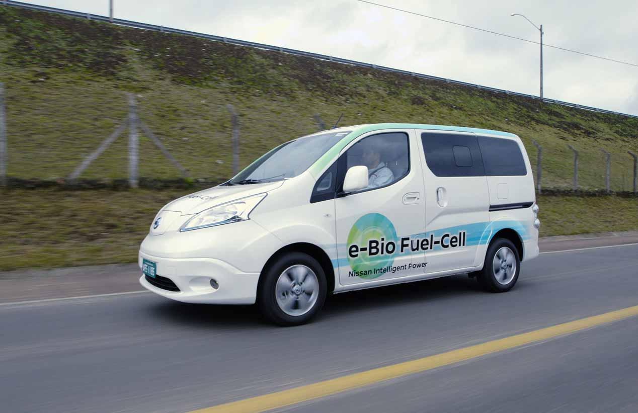 Nissan e-NV200 con pila de combustible de bioetanol, sus imágenes