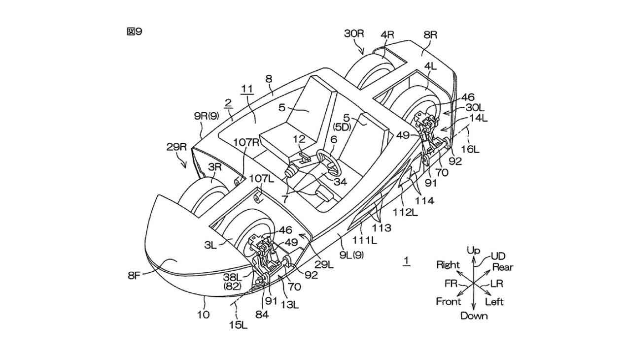 El vehículo anfibio que ha patentado Yamaha