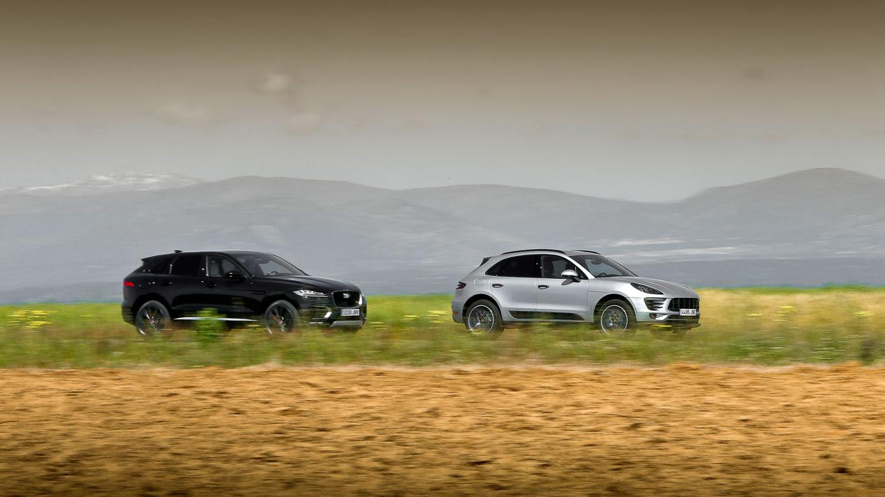 Jaguar F-Pace frente a Porsche Macan, SUV deportivos
