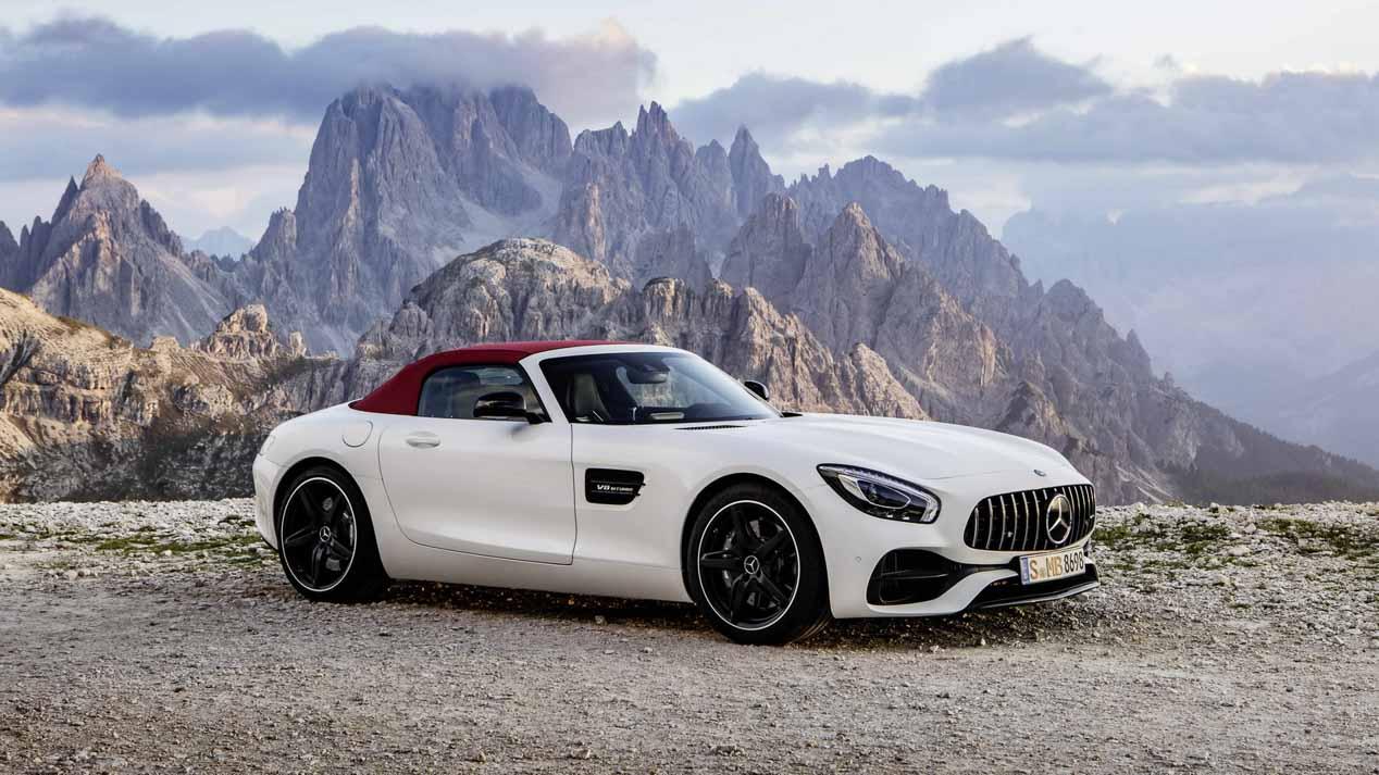 Mercedes AMG GT y GT C Roadster, brutales cabrio en el Salón de París