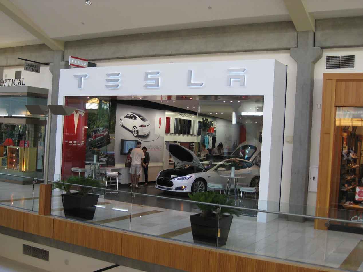 Así es una tienda de Tesla
