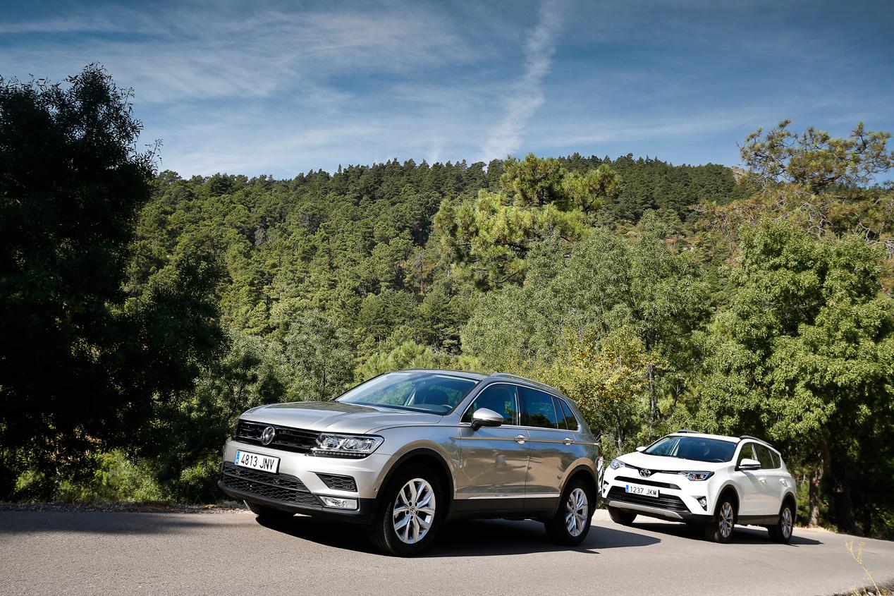 VW Tiguan 2.0 TDI 150 4x2 y Toyota RAV4 150D 4x2