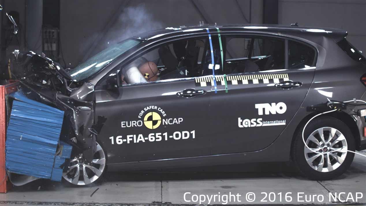 Fiat Tipo en los test de choque Euro NCAP, fotos
