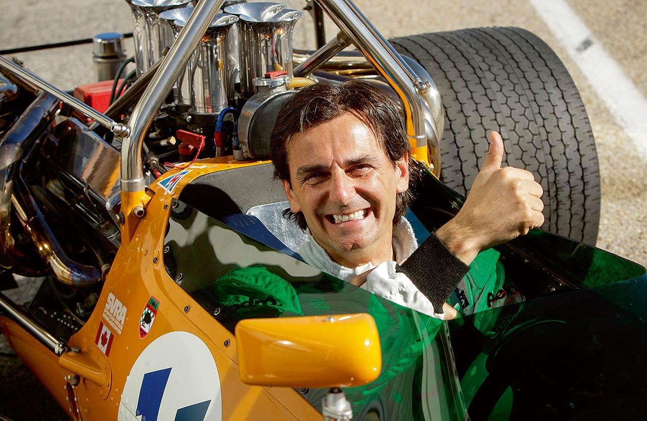 Pedro de la Rosa, al volante del McLaren M10A en el Jarama