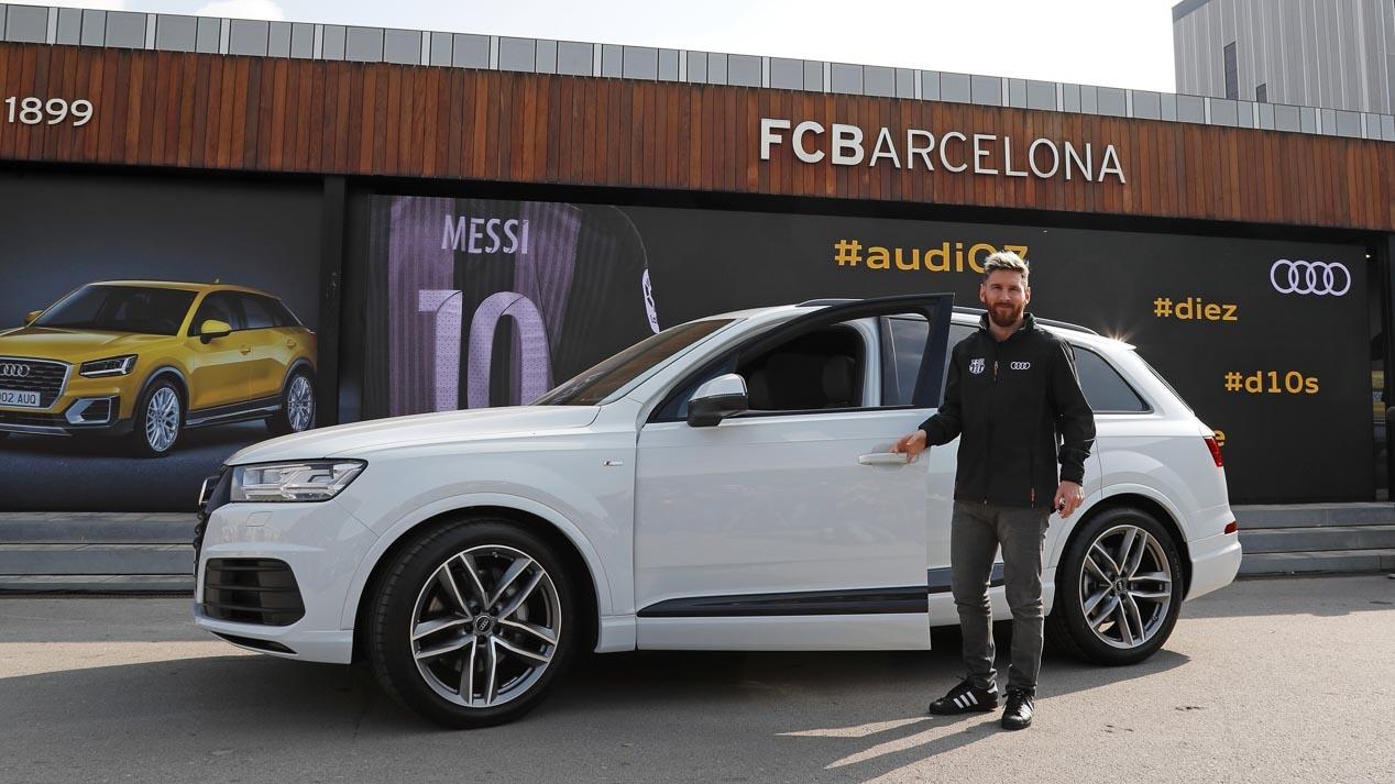 Los coches Audi de los jugadores del Barça y Real Madrid