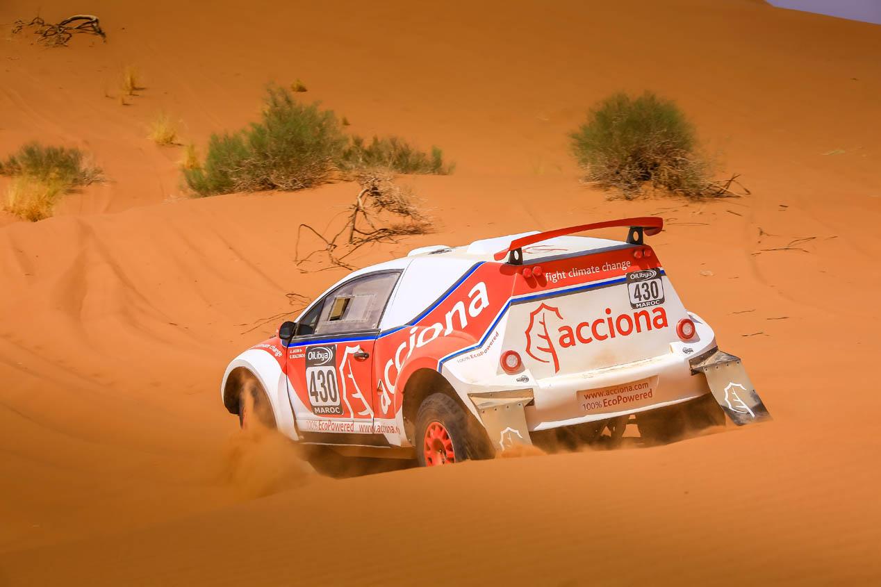 Acciona y su coche eléctrico en el Dakar 2017