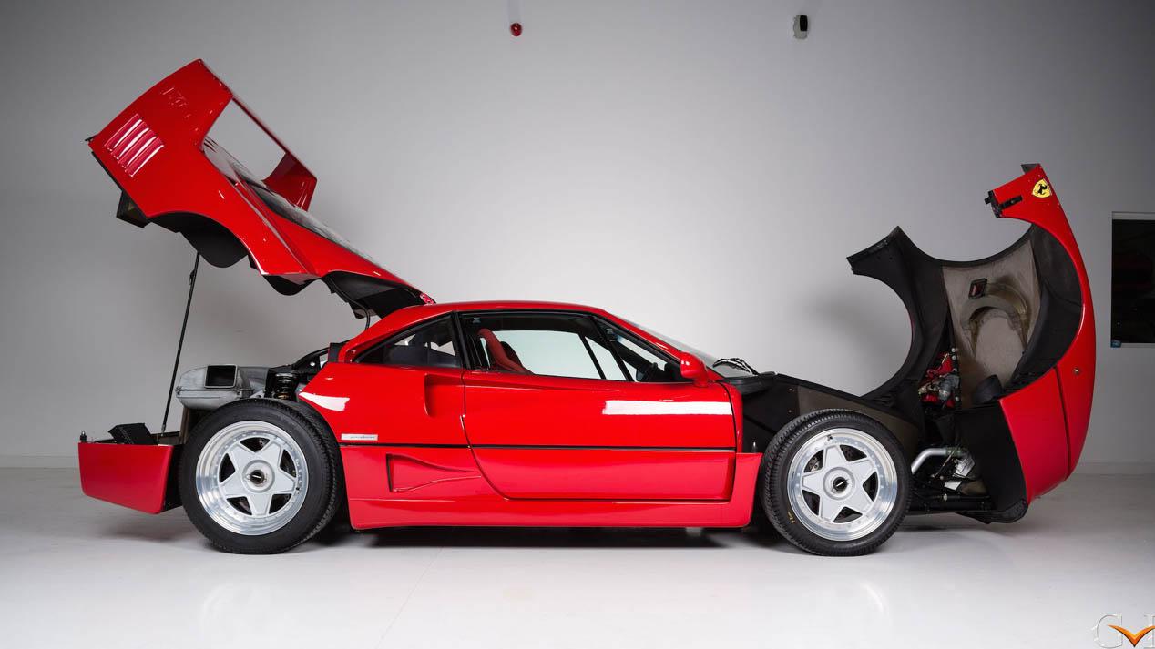 El Ferrari F40 de Eric Clapton, a la venta