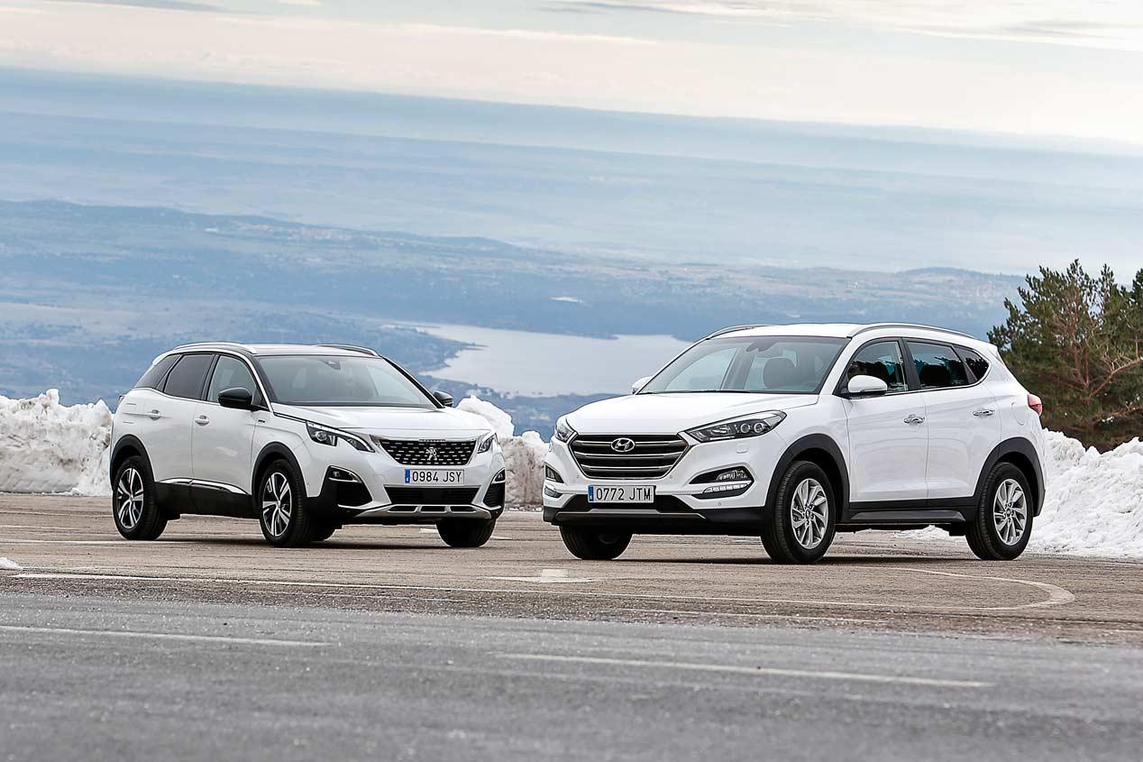 Hyundai Tucson 1.6 GDI vs Peugeot 3008 1.2 PureTech, a prueba