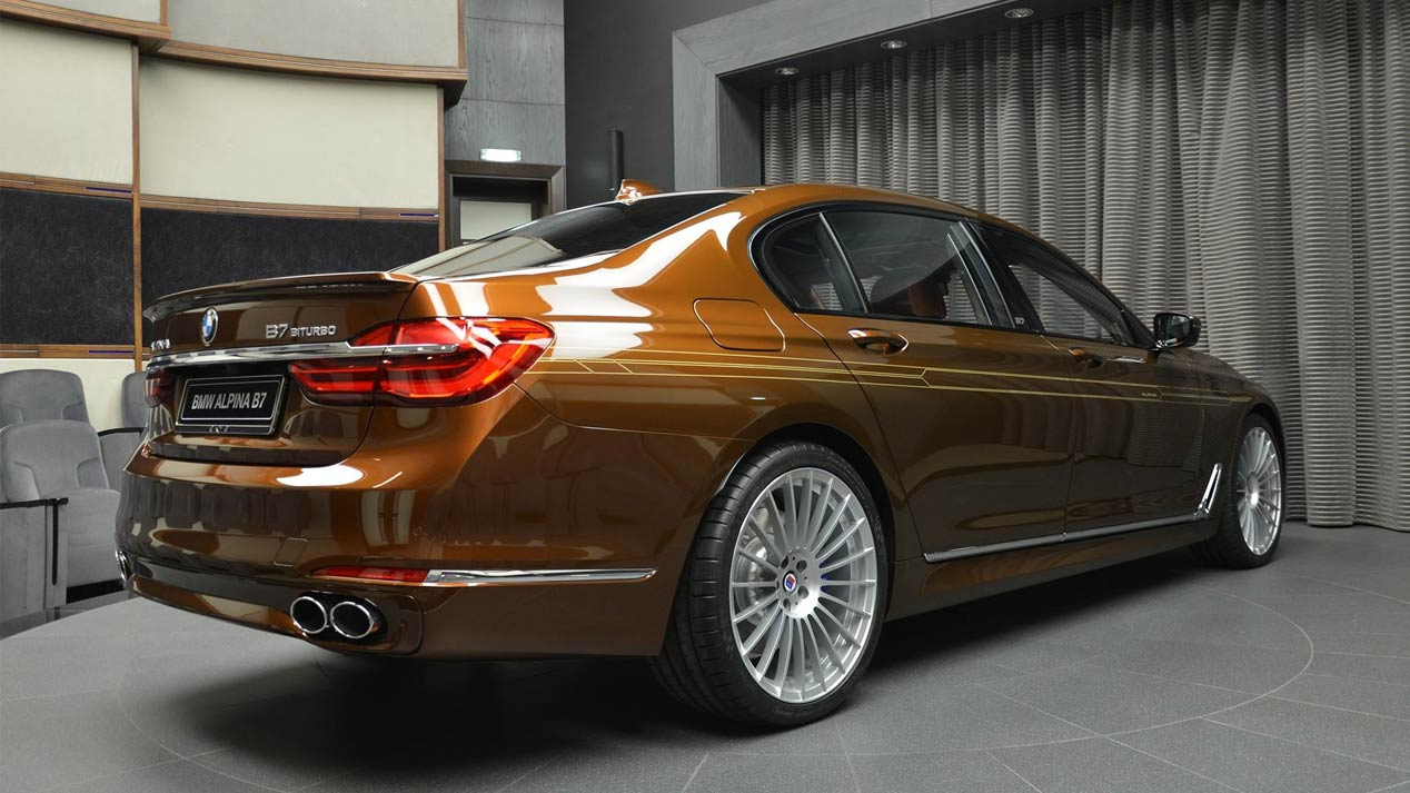 BMW Alpina B7 ALLRAD 038, presumiendo de color marrón