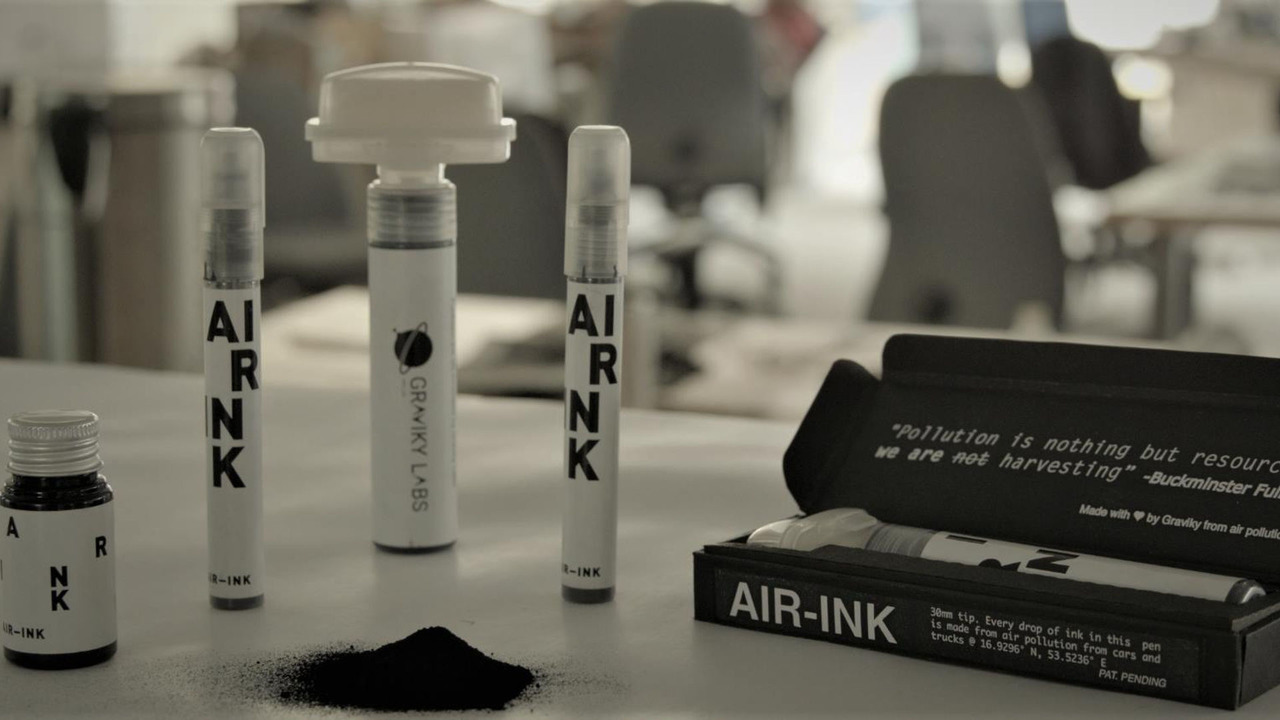 Air-Ink: la tinta que sale de tu tubo de escape
