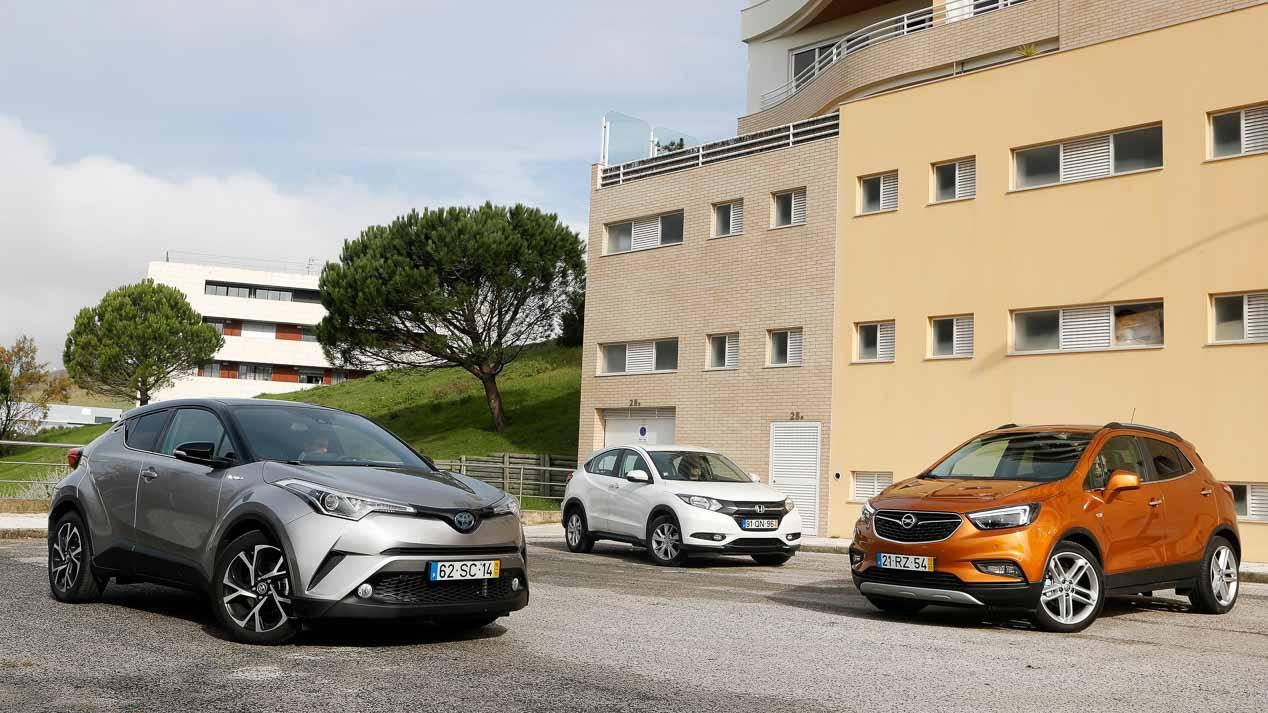 Comparativa SUV: Toyota C-HR vs Opel Mokka X vs Honda HR-V