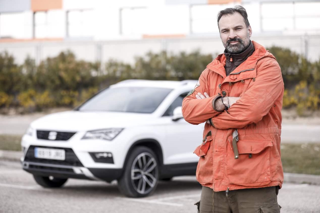 Ángel Sanz y el SEAT Ateca