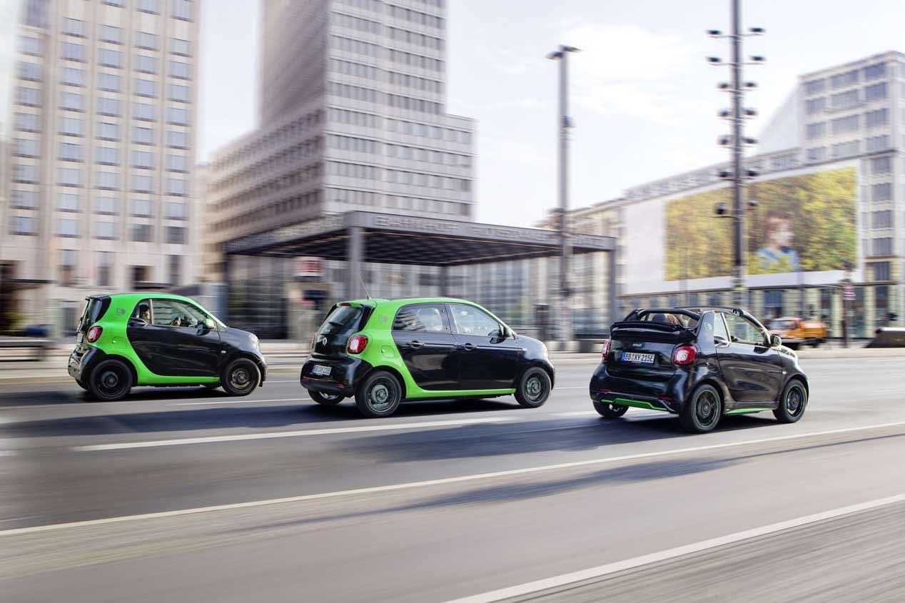 Ya a la venta los Smart Fortwo y Forfour eléctricos