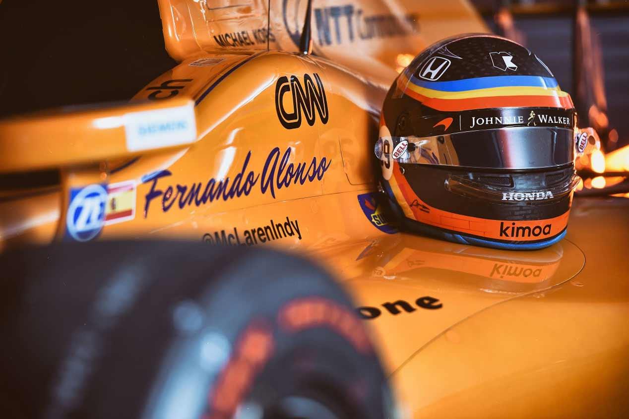 El McLaren-Honda-Andretti de Alonso en la Indy 500, en fotos
