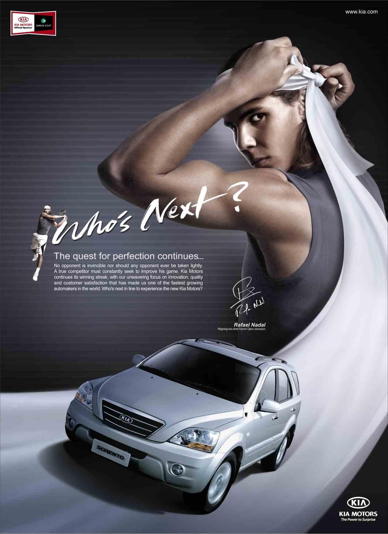 Rafa Nadal y sus mejores anuncios de coches con Kia