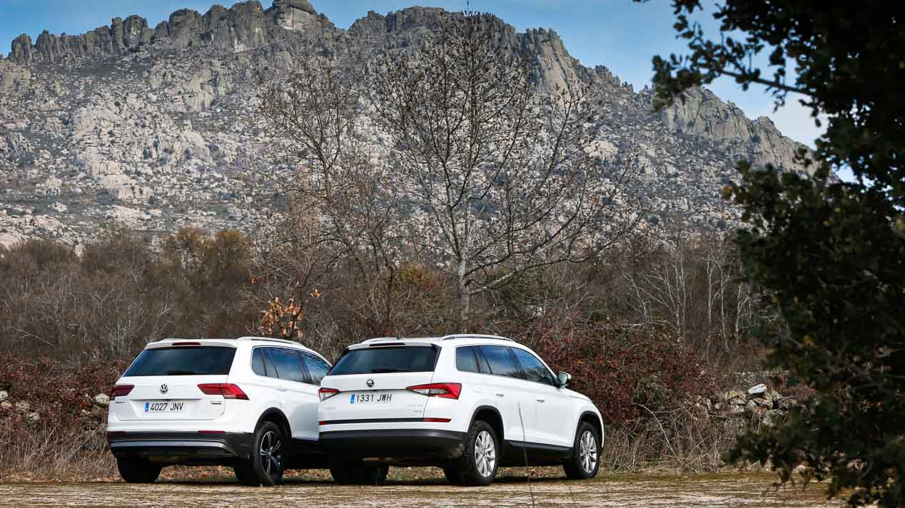 Skoda Kodiaq vs Volkswagen Tiguan 2.0 TDI