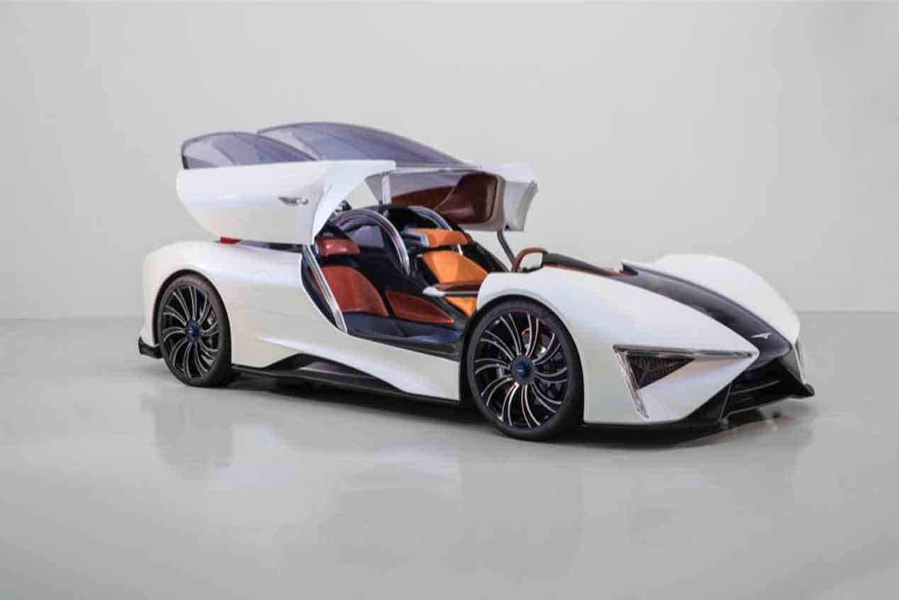 Techrules Ren, el superdeportivo con aspecto de jet con tecnología eléctrica revolucionaria
