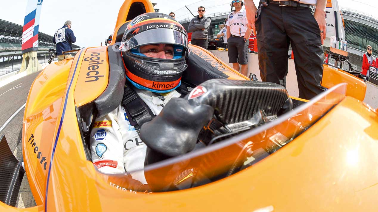 Fernando Alonso en la Indy 500