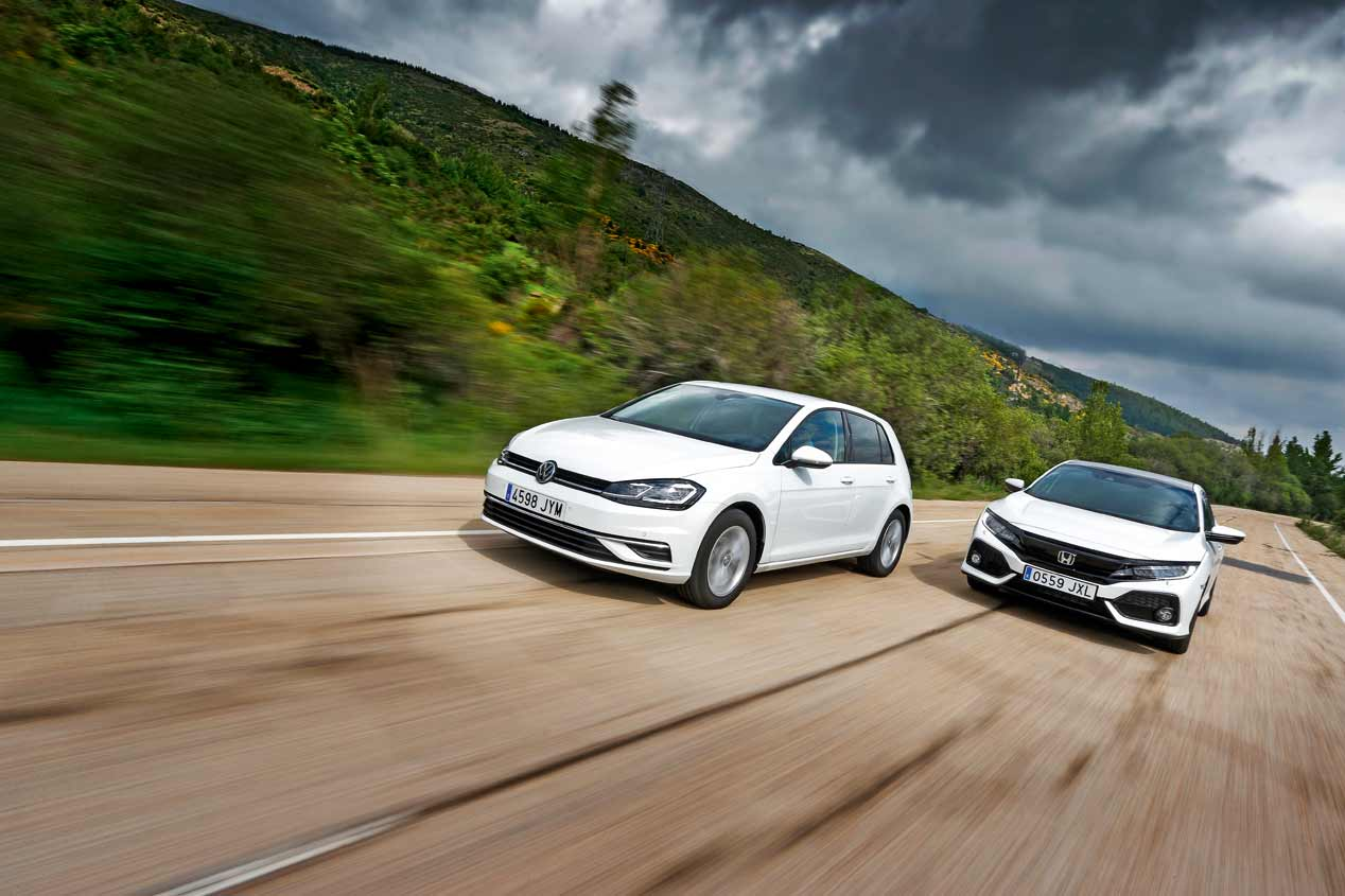 Honda Civic 1.0 I-VTEC Turbo vs VW Golf 1.0 TSI, a prueba