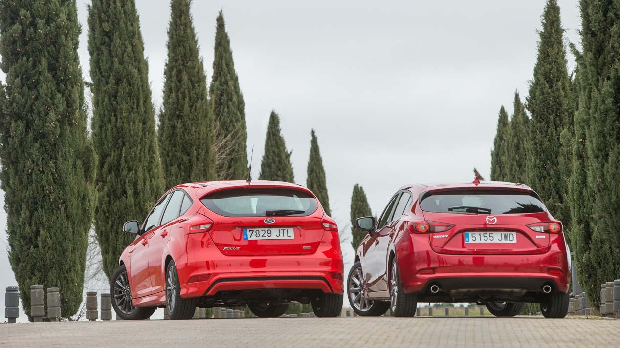 Comparativa Ford Focus EcoBoost 125 frente a Mazda 3 Skyactiv-G 120