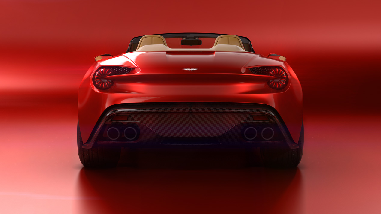 Aston Martin Vanquish Zagato Volante en Pebble Beach