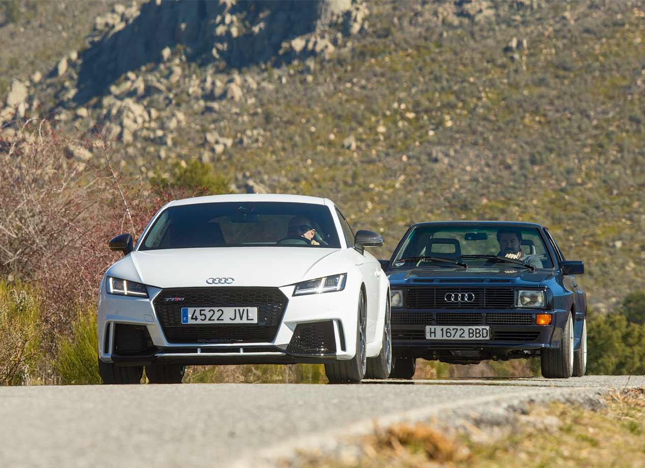 Audi TT RS vs Audi Sport Quattro, en fotos