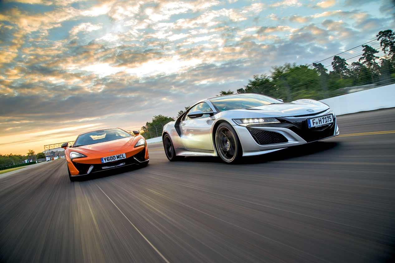 A prueba el Honda NSX y el McLaren 570S