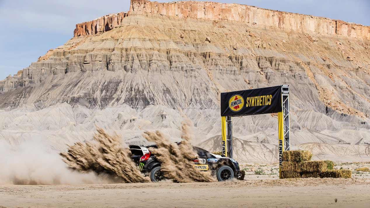 Ken Block, espectacular Gymkhana en el desierto de Utah