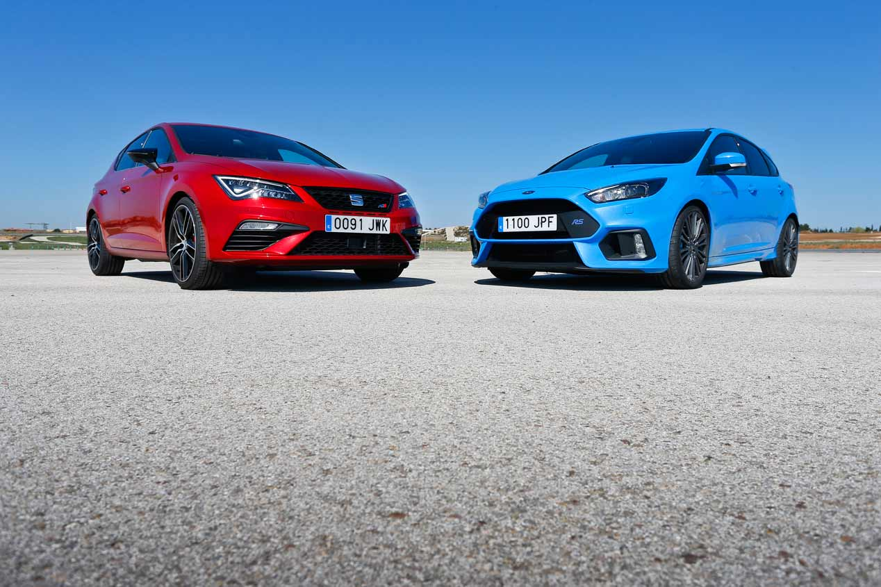 Ford Focus RS y Seat León Cupra 300