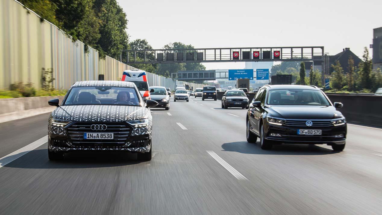 Audi traffic jam pilot: la conducción autónoma del nuevo Audi A8