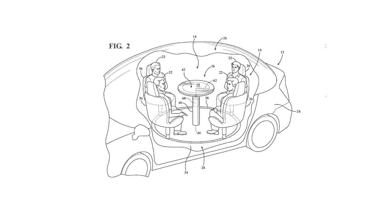 Ford patenta una mesa con airbag