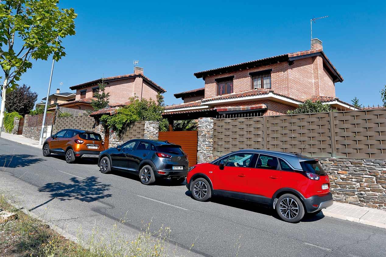 Renault Captur, Opel Crossland X y Mazda CX-3: en busca del mejor SUV urbano