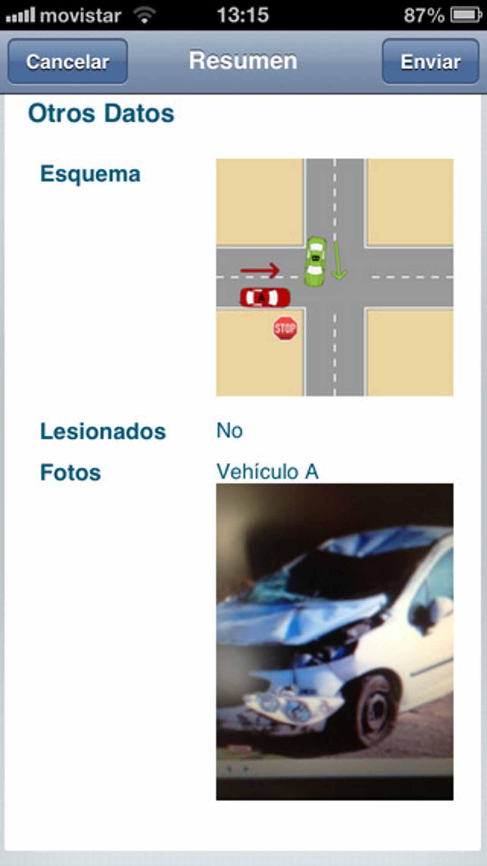 Parte amistoso de accidente de tráfico con móvil: así funciona