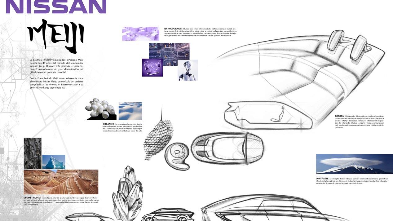 Ganador, segundo y tercer clasificados del Concurso de diseño de Autopista, Nissan y  la UPV de 2017