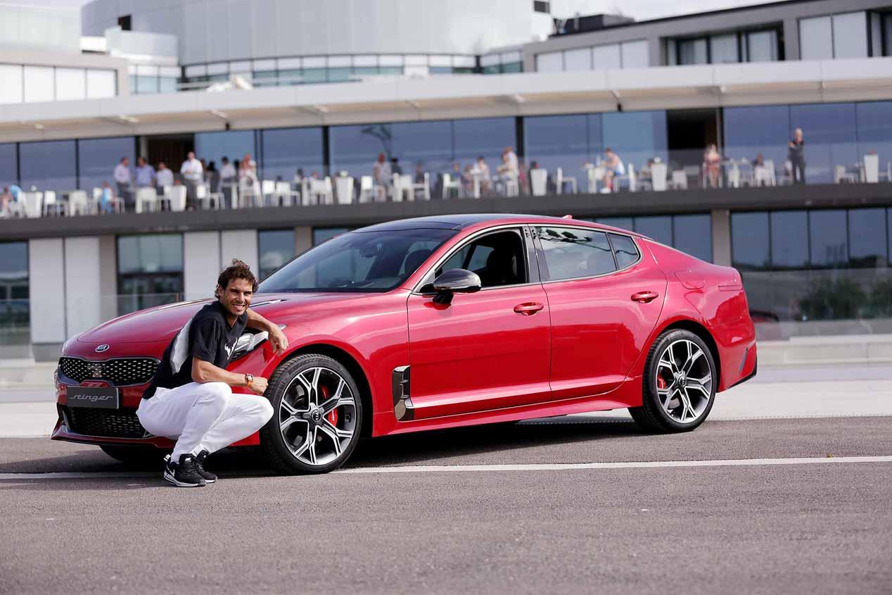 Kia Stinger, el coche que ya conduce Rafa Nadal