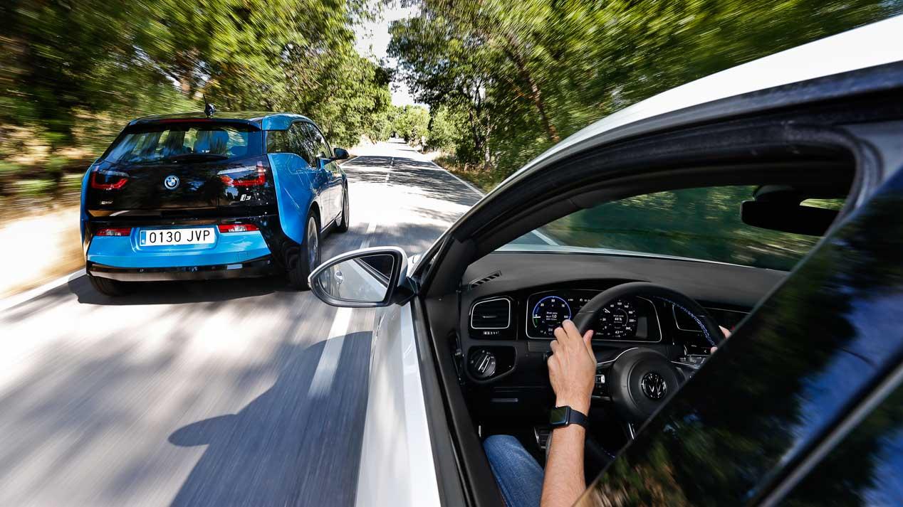 Volkswagen Golf GTE vs BMW i3 Rex 94 AH: futuro presente
