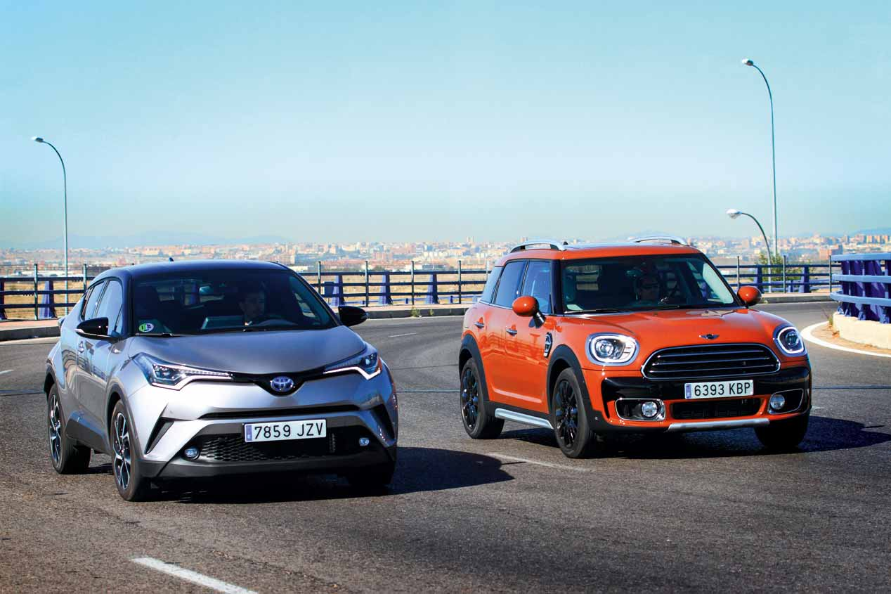 Comparativa SUV: Toyota C-HR vs Mini Countryman